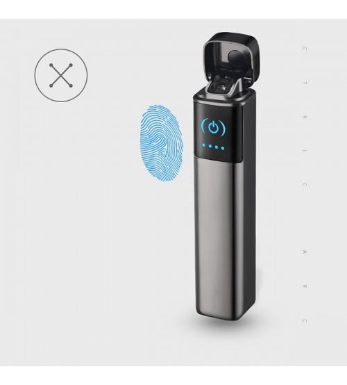 Hột Quẹt Bật Lửa Sạc Điện USB 2 Tia Lửa Điện, Cảm Ứng Vân Tay FOCUS 029 Sang Trọng