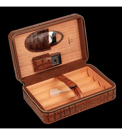 Set hộp đựng, dao cắt, bật lửa hút Xì gà chính hãng Cohiba - BLH519