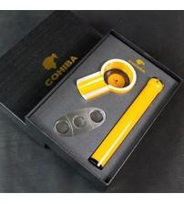 Set gạt, ống đựng, dao cắt Xì gà Cohiba chính hãng HB-T300