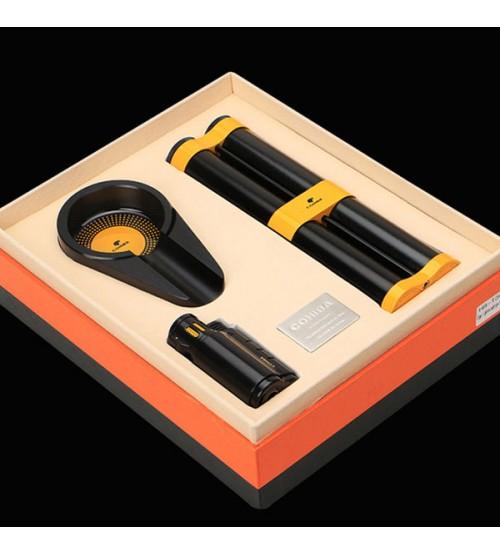 Set gạt tàn, bật lửa, ống đựng Xì gà Cohiba T304