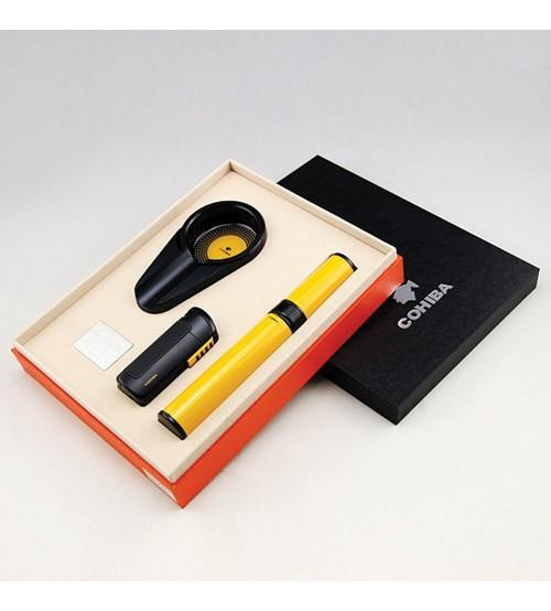 Set gạt tàn, bật lửa, ống đựng Xì gà Cohiba T308