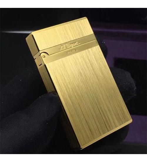 Hộp Quẹt Bật Lửa S.T Dupont DX03 Xăng Đá Họa Tiết Vàng, Bạc Xước Cao Cấp