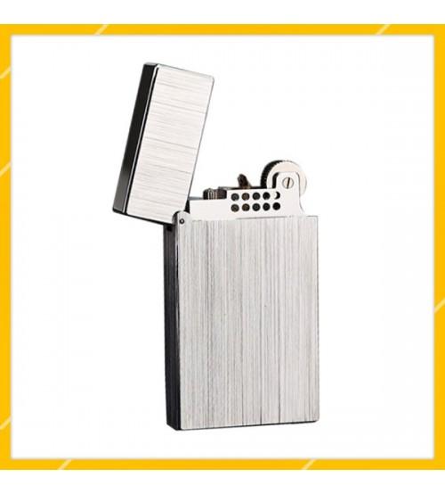 Hộp Quẹt Bật Lửa Xăng Đá S.T Dupont DX10 Thiết Kế Họa Tiết Xước Mịn Độc Đáo - Dùng Xăng Bấc Đá Cao Cấp