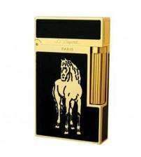 Bật lửa Dupont sơn mài khắc ngựa vàng