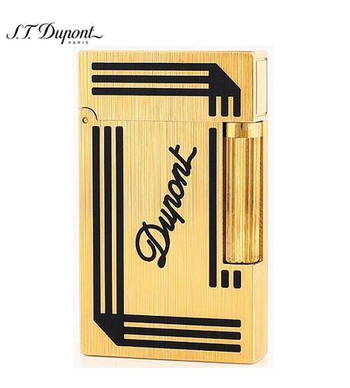 Bật lửa Dupont xước vàng viền đen