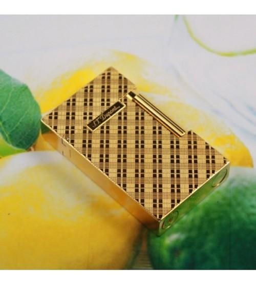 Bật Lửa S.T.Dupont vàng sọc chéo