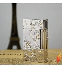 Bật lửa ST Dupont bạc hoa lá