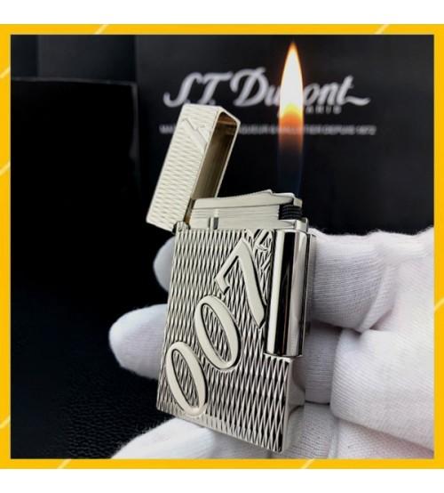 Hộp Quẹt Bật Lửa Gas Đá S.T Dupont D188 Thiết Kế Họa Tiết Điệp Viên 007 Độc Đáo - Dùng Gas Đá Cao Cấp