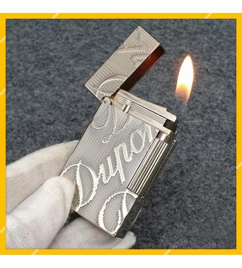 Hộp Quẹt Bật Lửa Gas Đá S.T Dupont D92 Thiết Kế Họa Tiết In Logo Chéo Độc Đáo - Dùng Gas Đá Cao Cấp