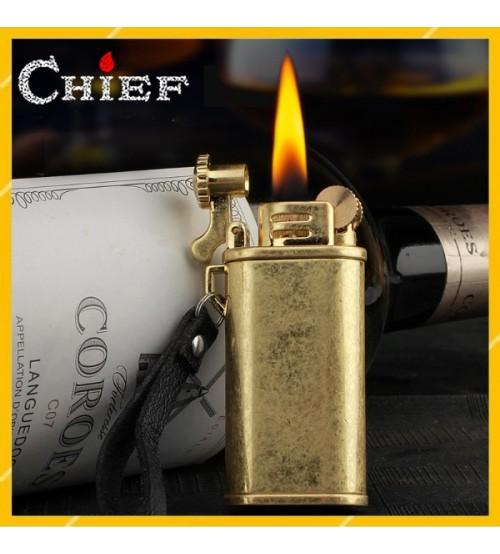 Hộp Qụet Bật Lửa Xăng Đá Chief CF205 Thiết Kế Đẹp Độc Lạ 3 Màu Sang Trọng - Dùng Xăng Bấc Đá Cao Cấp