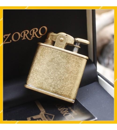 Hộp Quẹt Bật Lửa Xăng Đá Bằng Đồng Zorro Z-507, Kiểu Dáng Độc Đáo, Mới Lạ