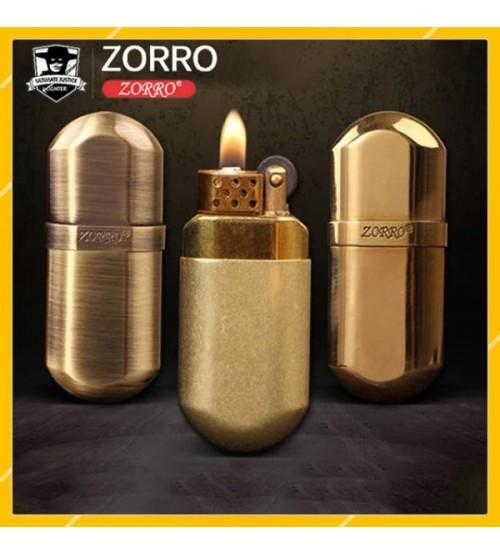 Hộp Quẹt Bật Lửa Xăng Đá Zorro Z516 Bằng Đồng Cao Cấp