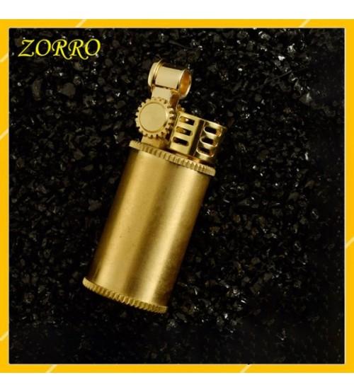Hộp Quẹt Bật Lửa Xăng Đá Zorro Z588-101, Bằng Đồng Kiêm Móc Khóa Cao Cấp
