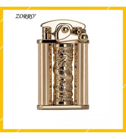 Hộp Quẹt Bật Lửa Xăng Đá Zorro Z629, Hoa Tiết Hình Rồng Cuộn Tuyệt Đẹp