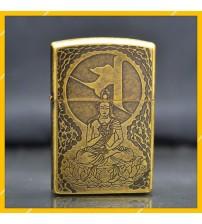 Hột Qụet Bật Lửa Xăng Đá Zorro Z91235 Họa Tiết Phật - Dùng Xăng Bấc Đá Cao Cấp