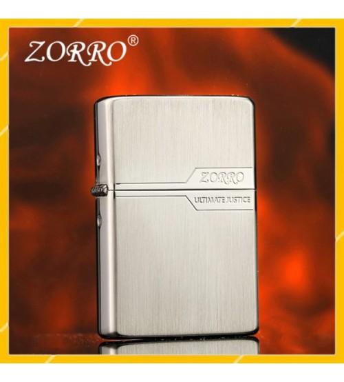 Hộp Qụet Bật Lửa Xăng Đá Zorro Z520-301, Ốp Gỗ Cao Cấp