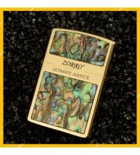 Hột Qụet Bật Lửa Xăng Đá Zorro Z91573 Họa Tiết Khảm Trai In Logo Đẹp Độc Lạ - Dùng Xăng Bấc Đá Cao Cấp
