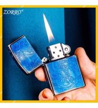 Hột Qụet Bật Lửa Xăng Đá Zorro Z92018B Họa Tiết Rồng Đẹp Độc Lạ - Dùng Xăng Bấc Đá Cao Cấp