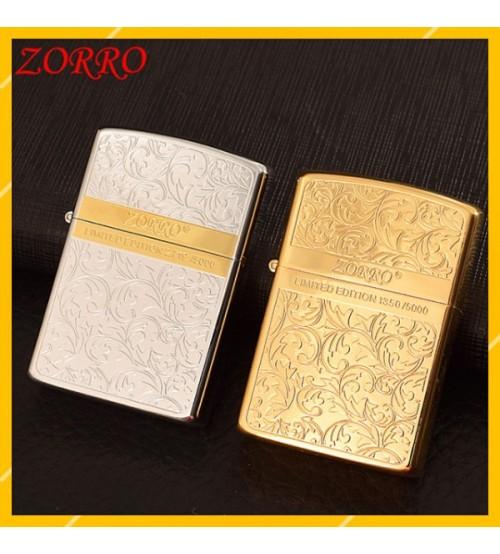 Hột Qụet Bật Lửa Xăng Đá Zorro Z92067 Thiết Kế Đẹp Độc Lạ - Dùng Xăng Bấc Đá Cao Cấp