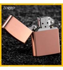 Hột Qụet Bật Lửa Xăng Đá Zorro Z9749 Họa Tiết Màu Trơn Đẹp Độc Lạ - Dùng Xăng Bấc Đá Cao Cấp