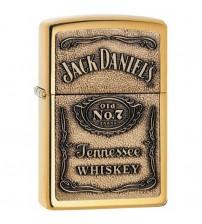 Jack Daniels Polished Brass Emblem Zippo Lighter