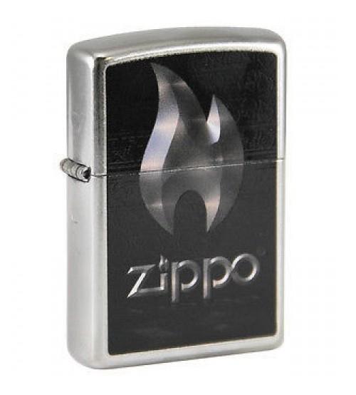 Zippo Flame Street Chrome Logo