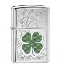 Zippo 4 Leaf Clover Luck