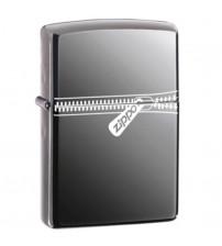 Zippo Black Ice Logo Windproof Lighter