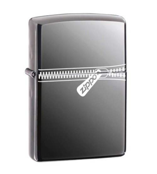 Zippo Black Ice Logo Windproof Lighter