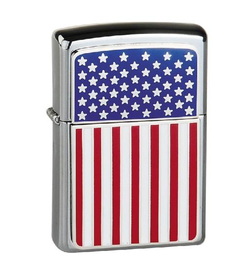 Zippo đắp nổi nguyên bản cờ Mỹ