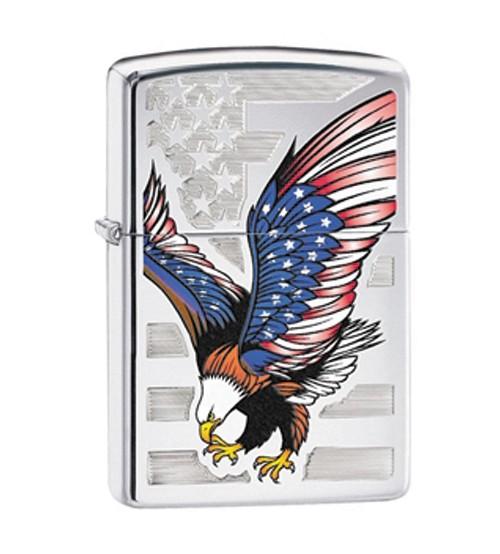 Bật lửa Zippo chính hãng in hình đại bàng Mỹ