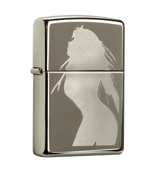 Zippo Lighter Seductive Silhouette Black Ice