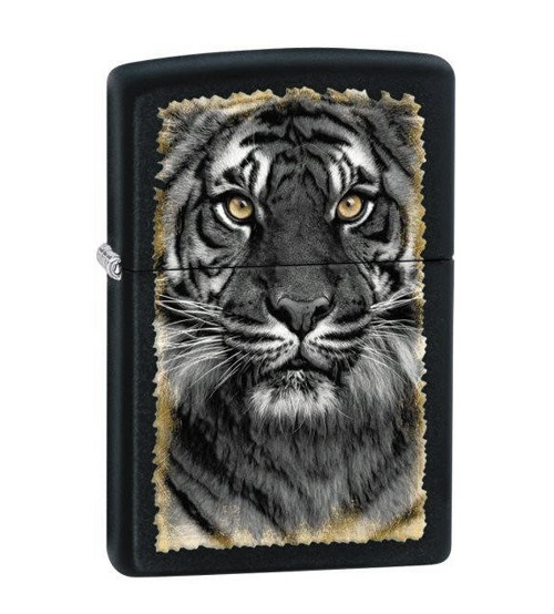 Zippo Tiger Black Matte