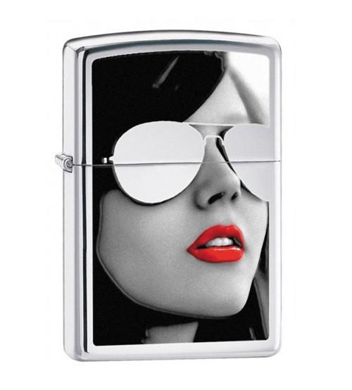 Bật lửa Zippo Mỹ cô gái đeo kính
