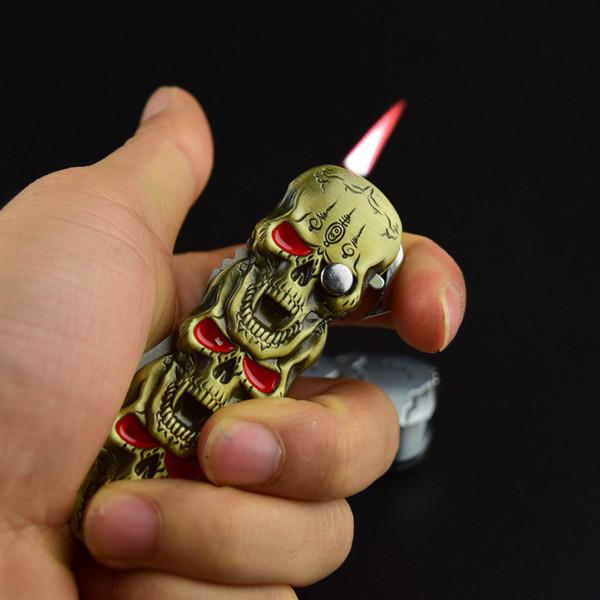 Bật lửa kiêm dao bấm chuyên dụng hình đầu lâu
