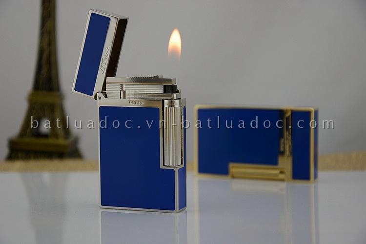 Bật lửa Dupont xanh trơn