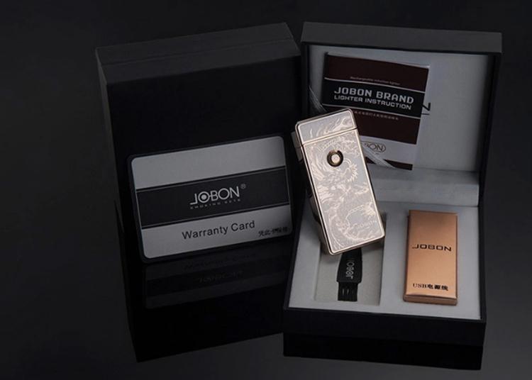 Bật lửa Jobon sạc USB- ZB 308B hình rồng