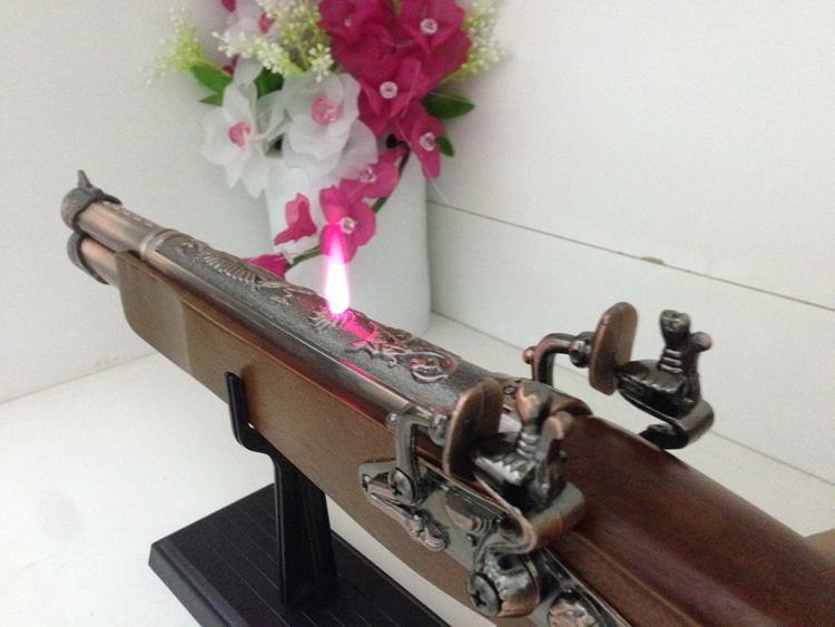 Bật lửa súng cổ 2 nòng 60 cm có dây đeo